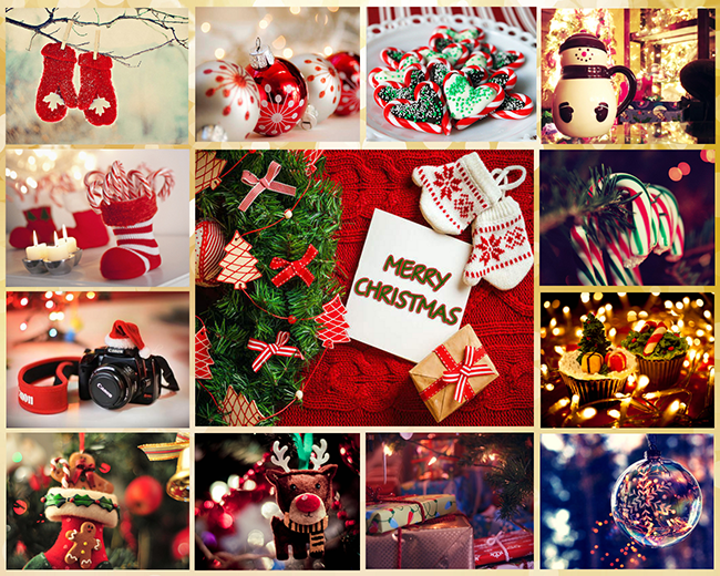 Christmas grid collage