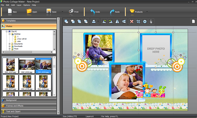 Picture collage software