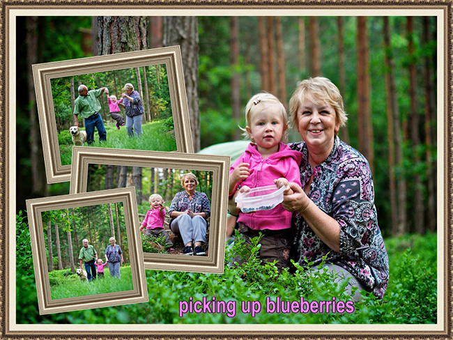 Grandmother and granddaughter - picture collage