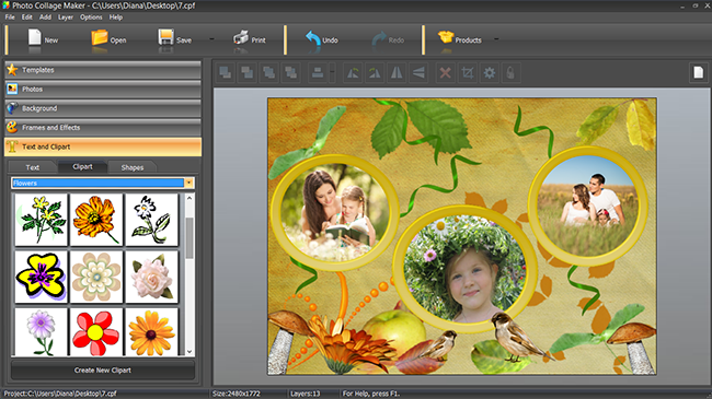 Creating a scrapbook page design