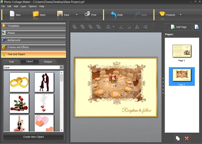working with clipart