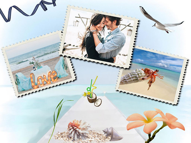 Seaside vacation - photo book page